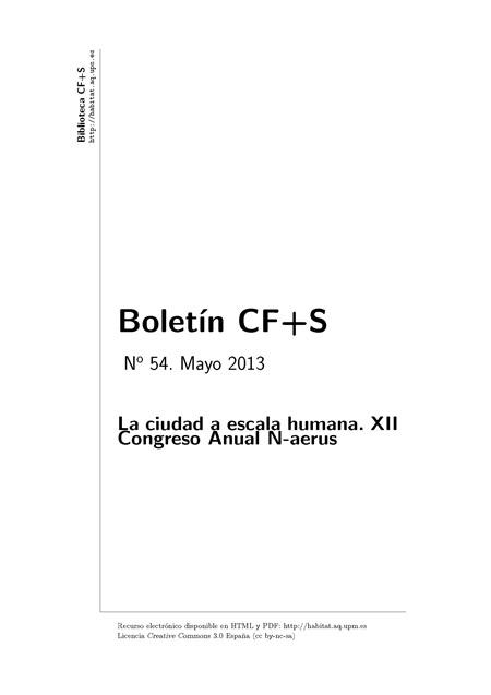 Boletin CF+S Numero 54